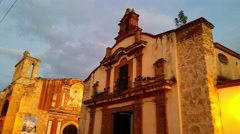 Santa barbara church, in zona colonial, domenican republic Stock Footage