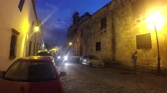 SANTO DOMINGO, DOMENICAN REPUBLIC FEBRUARY 04 Car driving at the streets in z Stock Footage