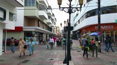 SANTO DOMINGO, DOMENICAN REPUBLIC FEBRUARY 04 People walking at the streets i Stock Footage