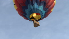 Lonely Hot Air Balloon Stock Footage