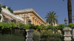 Villa Harvey seen on a sunny day in Nice - stock footage