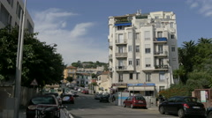 The School Cafe and Corep store seen on Avenue Emile Henriot in Nice Stock Footage