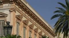 Close up of Villa Harvey on a sunny day in Nice - stock footage