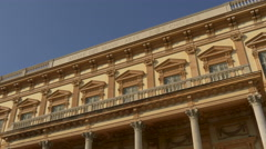 The facade of the Fine Arts Museum on a sunny day in Nice Stock Footage