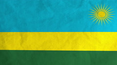 Rwandan flag waving in the wind (full frame footage) Stock Footage