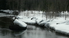 Stock Video Footage of Winter, Snow, River, North Cascades, Methow Valley