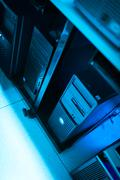 Network servers in data room Domestic Room Stock Photos