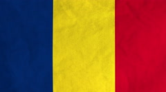 Romanian flag waving in the wind (full frame footage) Stock Footage