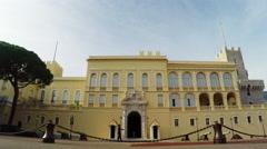 Prince's palace of Monaco Stock Footage
