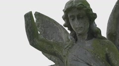 Ancient Stone Angel statue - stock footage