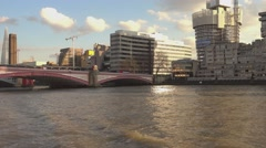 Blackfriars Bridge London on a sunny day - stock footage