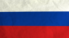 Russian flag waving in the wind (full frame footage) Stock Footage