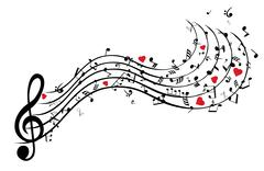 Musical Notes - stock illustration