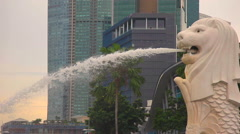 The Merlion is the national personification of Singapore Stock Footage