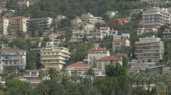 Houses on a steep hill in Nice Stock Footage