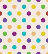 Beige polka dot seamless pattern - stock illustration