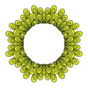 Stock Illustration of Garland with floral elements and leaves