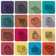 Icons purchase, vector illustration. - stock illustration