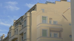 Mural paintings on the wall of a building in Nice Stock Footage