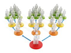 Business network diagram - stock illustration