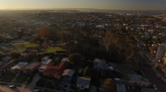 4k San Diego Neighborhood Sun Rise 004. PART 2 Orbit Stock Footage