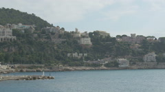 The coastline and the old port of Nice - stock footage