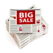 Big sale newspaper headline Stock Illustration