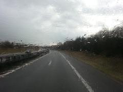 Rainy windshield Stock Photos