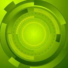 Stock Illustration of Green tech corporate abstract background