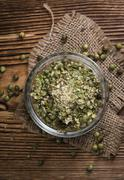 Crushed green Peppercorns Stock Photos