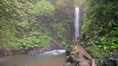 Gitgit Waterfall is a waterfall on Bali, Indonesia. Stock Footage