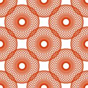 Seamless Colorful Abstract Pattern from Repetitive Circles - stock illustration