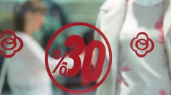 Sale in a clothing store Stock Footage