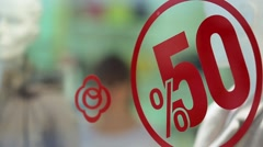 Big sale 50 percent - stock footage