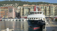 Rivage Cote d'Azur moored in Port Lympia, Nice Stock Footage