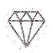 People shape  diamond Stock Illustration