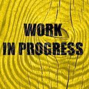 Work in progress sign Stock Illustration