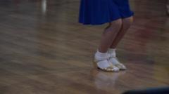 Ballroom Dancing Kids on Spring 2016 Championship - stock footage