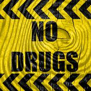 No drugs sign - stock illustration