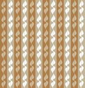 Fun pattern with beige and white leaves on brown background - stock illustration