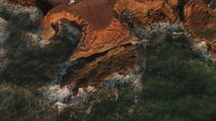 4k San Diego Coast Sunset 007. PART 2 High Vertical Ascent Stock Footage