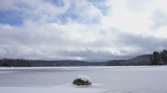 Frozen Lake-Time Lapse - stock footage