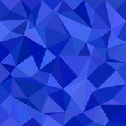Blue irregular triangle mosaic background design - stock illustration