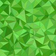 Green irregular triangle mosaic background design - stock illustration