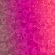 Magenta irregular triangle mosaic background - stock illustration