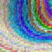 Colorful irregular triangle mosaic background Stock Illustration