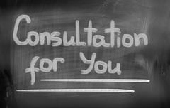 Consultation For You Concept Stock Illustration