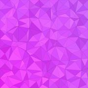 Magenta irregular triangle background design - stock illustration