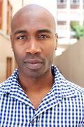 Bald african american man Stock Photos