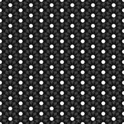 Seamless Black and White Abstract Pattern from Repetitive Circles - stock illustration